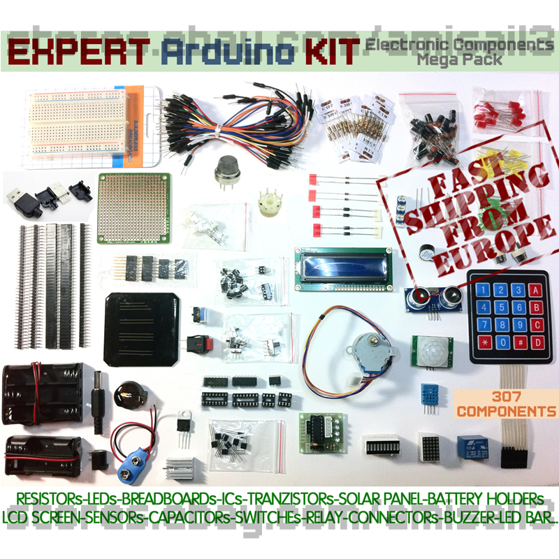 Expert arduino kit electronic components mega pack lcd